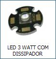 LED 3 WATT COM DISSIPADOR